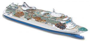 תכנית מתאר אוניית - Serenade of the Seas deck plan